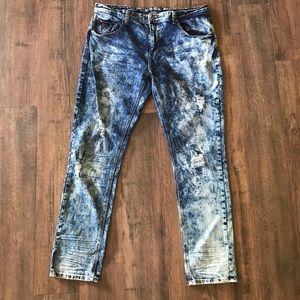 Buckle Black Destroyed Dark Acid Wash Skinny Jeans